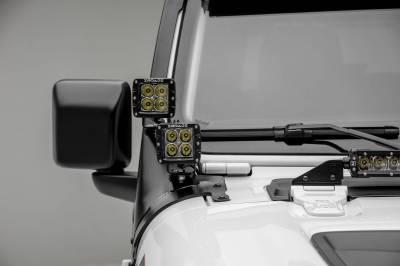ZROADZ - Jeep JL, Gladiator Front Roof LED Bracket to mount (1) 50 or 52 Inch Straight LED Light Bar and (4) 3 Inch LED Pod Lights - PN #Z374831-BK4 - Image 4