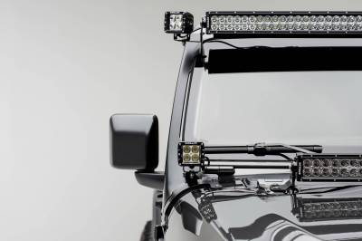 ZROADZ - Jeep JL, Gladiator Front Roof LED Kit with (1) 50 Inch LED Straight Double Row Light Bar and (2) 3 Inch LED Pod Lights - PN #Z374831-KIT2 - Image 1