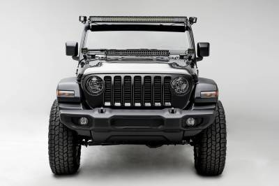 ZROADZ - Jeep JL, Gladiator Front Roof LED Kit with (1) 50 Inch LED Straight Double Row Light Bar and (2) 3 Inch LED Pod Lights - PN #Z374831-KIT2 - Image 2