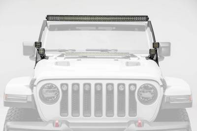 ZROADZ OFF ROAD PRODUCTS - Jeep JL, Gladiator Front Roof LED Kit with (1) 50 Inch LED Straight Double Row Light Bar and (4) 3 Inch LED Pod Lights - PN #Z374831-KIT4 - Image 3