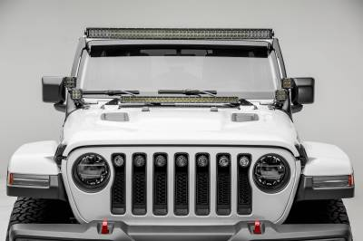 ZROADZ OFF ROAD PRODUCTS - Jeep JL, Gladiator Front Roof LED Kit with (1) 50 Inch LED Straight Double Row Light Bar and (4) 3 Inch LED Pod Lights - PN #Z374831-KIT4 - Image 4