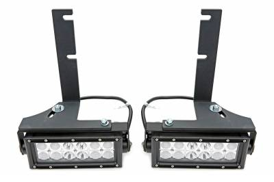 ZROADZ - 2014-2018 Silverado, Sierra 1500 Rear Bumper LED Kit with (2) 6 Inch LED Straight Double Row Light Bars - PN #Z382082-KIT - Image 2