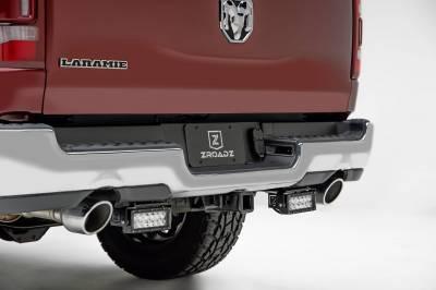 ZROADZ - 2019-2021 Ram 1500 Rear Bumper LED Kit with (2) 6 Inch LED Straight Double Row Light Bars - PN #Z384721-KIT - Image 1