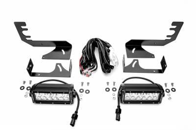 ZROADZ - 2019-2021 Ram 1500 Rear Bumper LED Kit with (2) 6 Inch LED Straight Double Row Light Bars - PN #Z384721-KIT - Image 3