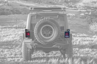 ZROADZ OFF ROAD PRODUCTS - 2007-2018 Jeep JK Tail Light Protector LED Kit with (2) 3 Inch LED Pod Lights - PN #Z384811-KIT - Image 5