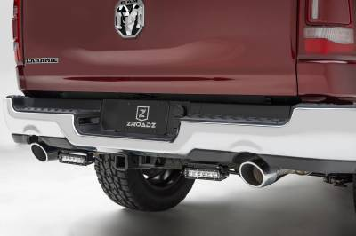 ZROADZ - 2019-2021 Ram 1500 Rear Bumper LED Kit with (2) 6 Inch LED Straight Single Row Slim Light Bars - PN #Z384821-KIT - Image 2