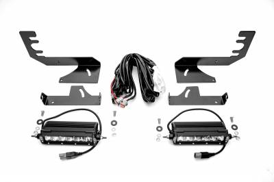 ZROADZ - 2019-2021 Ram 1500 Rear Bumper LED Kit with (2) 6 Inch LED Straight Single Row Slim Light Bars - PN #Z384821-KIT - Image 4