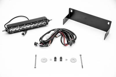 ZROADZ - 2018-2021 Jeep JL Rear Bumper LED Kit with (1) 10 Inch LED Single Row Slim Light Bar - PN #Z384931-KIT - Image 5