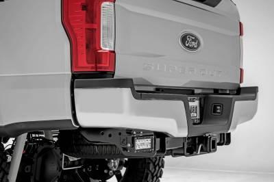 ZROADZ - 2017-2021 Ford Super Duty Rear Bumper LED Kit with (2) 6 Inch LED Straight Double Row Light Bars - PN #Z385471-KIT - Image 2