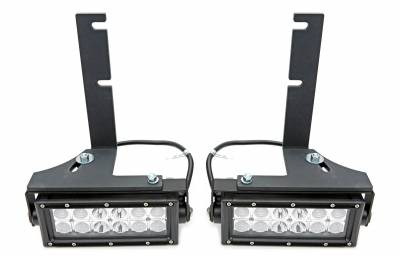 ZROADZ - 2017-2021 Ford Super Duty Rear Bumper LED Kit with (2) 6 Inch LED Straight Double Row Light Bars - PN #Z385471-KIT - Image 8