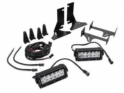 ZROADZ - 2015-2017 Ford F-150 Rear Bumper LED Kit with (2) 6 Inch LED Straight Double Row Light Bars - PN #Z385731-KIT - Image 3