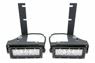 ZROADZ - 2016-2019 Nissan Titan Rear Bumper LED Kit with (2) 6 Inch LED Straight Double Row Light Bars - PN #Z387581-KIT - Image 4