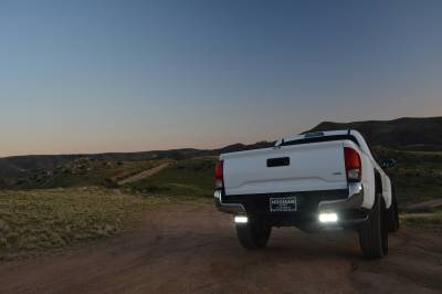ZROADZ OFF ROAD PRODUCTS - 2016-2021 Toyota Tacoma Rear Bumper LED Kit with (2) 6 Inch LED Straight Double Row Light Bars - PN #Z389401-KIT - Image 1