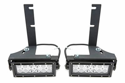 ZROADZ OFF ROAD PRODUCTS - 2016-2021 Toyota Tacoma Rear Bumper LED Kit with (2) 6 Inch LED Straight Double Row Light Bars - PN #Z389401-KIT - Image 7