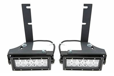 ZROADZ OFF ROAD PRODUCTS - 2014-2021 Toyota Tundra Rear Bumper LED Kit with (2) 6 Inch LED Straight Double Row Light Bars - PN #Z389641-KIT - Image 5
