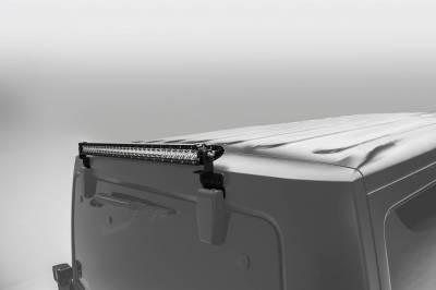 ZROADZ OFF ROAD PRODUCTS - 2007-2018 Jeep JK Rear Window LED Bracket to mount (1) 30 Inch Staight Single Row LED Light Bar - PN #Z394811 - Image 1