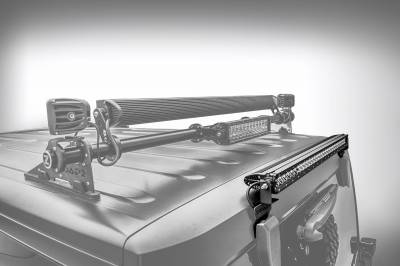 ZROADZ OFF ROAD PRODUCTS - 2007-2018 Jeep JK Rear Window LED Bracket to mount (1) 30 Inch Staight Single Row LED Light Bar - PN #Z394811 - Image 2