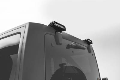 ZROADZ - 2007-2018 Jeep JK Rear Window LED Bracket to mount (2) 6 Inch Staight Single Row LED Light Bars - PN #Z394812 - Image 1