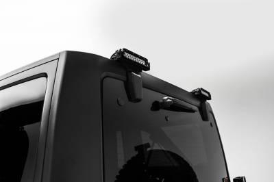 ZROADZ - 2007-2018 Jeep JK Rear Window LED Bracket to mount (2) 6 Inch Staight Single Row LED Light Bars - PN #Z394812 - Image 2