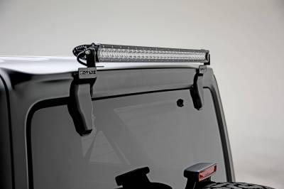 ZROADZ - 2018-2021 Jeep JL Rear Window LED Kit with (1) 30 Inch LED Straight Single Row Slim Light Bar - PN #Z394931-KIT - Image 5