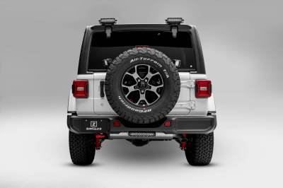 ZROADZ - 2018-2021 Jeep JL Rear Window LED Bracket to mount (2) 6 Inch Staight Single Row LED Light Bars - PN #Z394941 - Image 5