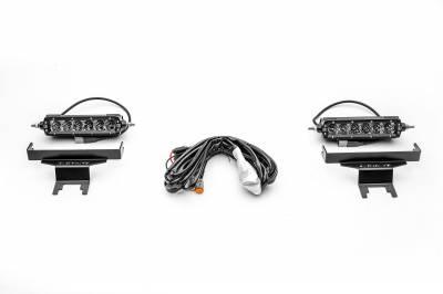 ZROADZ - 2018-2021 Jeep JL Rear Window LED Kit with (2) 6 Inch LED Straight Single Row Slim Light Bars - PN #Z394941-KIT - Image 6