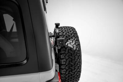 ZROADZ - 2018-2021 Jeep JL Rear Tire Carrier LED Bracket to mount (2) 3 Inch LED Pod Lights - PN #Z394951 - Image 5