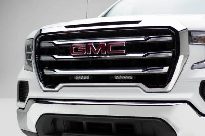 ZROADZ - 2019-2021 GMC Sierra 1500 OEM Grille LED Kit with (2) 6 Inch LED Straight Single Row Slim Light Bars - PN #Z412281-KIT - Image 1