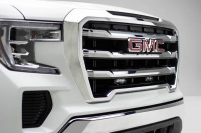 ZROADZ - 2019-2021 GMC Sierra 1500 OEM Grille LED Kit with (2) 6 Inch LED Straight Single Row Slim Light Bars - PN #Z412281-KIT - Image 2