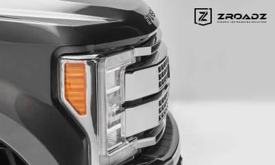ZROADZ - 2017-2019 Ford Super Duty Platinum OEM Grille LED Kit with (2) 10 Inch LED Single Row Slim Light Bar - PN #Z415371-KIT - Image 4