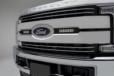ZROADZ - 2017-2019 Ford Super Duty Lariat, King Ranch OEM Grille LED Kit with (2) 6 Inch LED Straight Single Row Slim Light Bars - PN #Z415471-KIT - Image 1