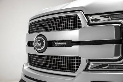 ZROADZ - 2018-2020 Ford F-150 Platinum OEM Grille LED Kit with (2) 6 Inch LED Straight Single Row Slim Light Bars - PN# Z415581-KIT - Image 2