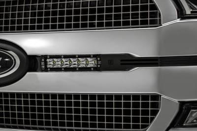 ZROADZ - 2018-2020 Ford F-150 Platinum OEM Grille LED Kit with (2) 6 Inch LED Straight Single Row Slim Light Bars - PN# Z415581-KIT - Image 5