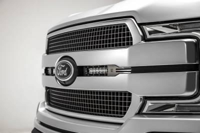 ZROADZ - 2018-2020 Ford F-150 Platinum OEM Grille LED Kit with (2) 6 Inch LED Straight Single Row Slim Light Bars - PN# Z415583-KIT - Image 2