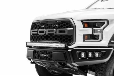 ZROADZ - 2017-2021 Ford F-150 Raptor OEM Grille LED Kit with (2) 6 Inch LED Straight Single Row Slim Light Bars - PN #Z415651-KIT - Image 5