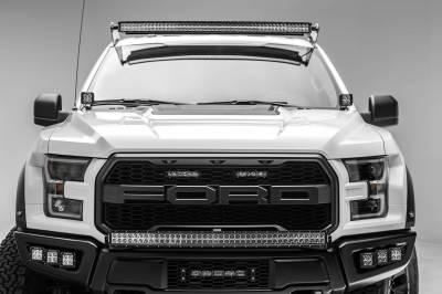 ZROADZ - 2017-2021 Ford F-150 Raptor OEM Grille LED Kit with (2) 6 Inch LED Straight Single Row Slim Light Bars - PN #Z415651-KIT - Image 7