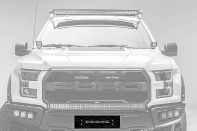 ZROADZ - 2017-2021 Ford F-150 Raptor OEM Bumper Grille LED Kit with 10 Inch LED Single Row Slim Light Bar - PN #Z415661-KIT - Image 1