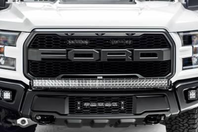 ZROADZ - 2017-2021 Ford F-150 Raptor OEM Bumper Grille LED Kit with 10 Inch LED Single Row Slim Light Bar - PN #Z415661-KIT - Image 3
