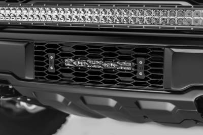 ZROADZ - 2017-2021 Ford F-150 Raptor OEM Bumper Grille LED Kit with 10 Inch LED Single Row Slim Light Bar - PN #Z415661-KIT - Image 4