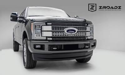 ZROADZ - 2017-2019 Ford Super Duty Platinum OEM Grille LED Kit with (2) 10 Inch LED Single Row Slim Light Bars - PN #Z415671-KIT - Image 3