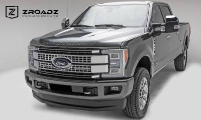 ZROADZ - 2017-2019 Ford Super Duty Platinum OEM Grille LED Kit with (2) 10 Inch LED Single Row Slim Light Bars - PN #Z415671-KIT - Image 4