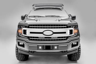 ZROADZ - 2018-2020 Ford F-150 XLT, Lariat OEM Grille LED Kit with (2) 6 Inch LED Straight Single Row Slim Light Bars - PN #Z415711-KIT - Image 3