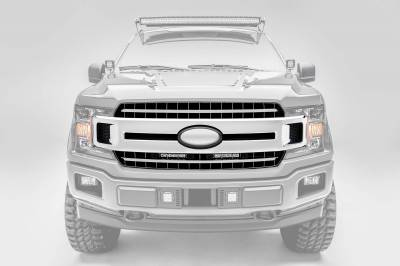 ZROADZ - 2018-2020 Ford F-150 XLT, Lariat OEM Grille LED Kit with (2) 6 Inch LED Straight Single Row Slim Light Bars - PN #Z415711-KIT - Image 4