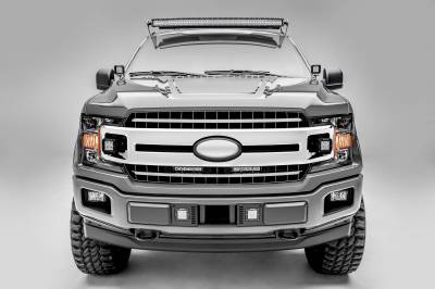 ZROADZ - 2018-2020 Ford F-150 XLT, Lariat OEM Grille LED Kit with (2) 6 Inch LED Straight Single Row Slim Light Bars - PN #Z415711-KIT - Image 5