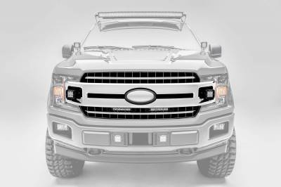 ZROADZ - 2018-2020 Ford F-150 XLT, Lariat OEM Grille LED Kit with (2) 6 Inch LED Straight Single Row Slim Light Bars - PN #Z415711-KIT - Image 6