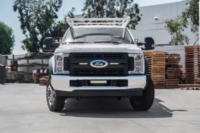 ZROADZ - 2017-2019 Ford Super Duty XL OEM Grille LED Kit with (2) 6 Inch LED Straight Single Row Slim Light Bars - PN #Z415771-KIT - Image 4