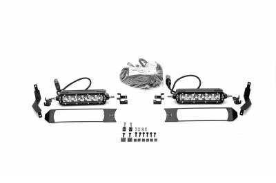ZROADZ - 2017-2019 Ford Super Duty XL OEM Grille LED Kit with (2) 6 Inch LED Straight Single Row Slim Light Bars - PN #Z415771-KIT - Image 5