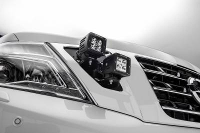 ZROADZ - 2010-2017 Nissan Patrol Y62 OEM Grille LED Kit with (4) 3 Inch LED Pod Lights - PN #Z417871-KIT4 - Image 3