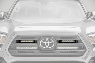 ZROADZ - 2018-2019 Toyota Tacoma OEM Grille LED Kit with (2) 6 Inch LED Straight Single Row Slim Light Bars - PN #Z419511-KIT - Image 1