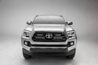 ZROADZ - 2018-2019 Toyota Tacoma OEM Grille LED Kit with (2) 6 Inch LED Straight Single Row Slim Light Bars - PN #Z419511-KIT - Image 8